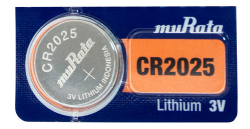 Murata (Replaces Sony) CR2025 160mAh 3V Lithium (LiMnO2) Coin Cell Watch Battery