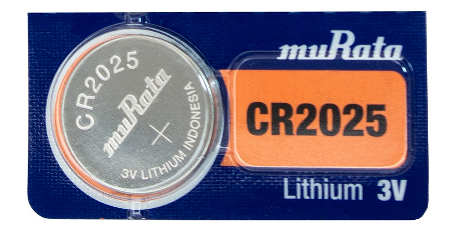 MuRata CR2025 160mAh 3V Lithium (LiMnO2) Coin Cell Watch Battery