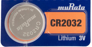 MuRata CR2032 220mAh 3V Lithium (LiMnO2) Coin Cell Watch Battery