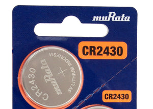 Murata (Replaces Sony) CR2430 280mAh 3V Lithium (LiMnO2) Coin Cell Watch Battery