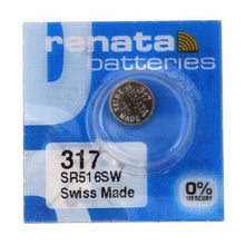 Renata 317 10.5mAh 1.55V Silver Oxide Coin Cell Battery - Watchbatteries