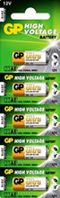 GP Battery 12 Volt GPA23 Hogh Voltage Alkaline Battery Five Strip - Watchbatteries