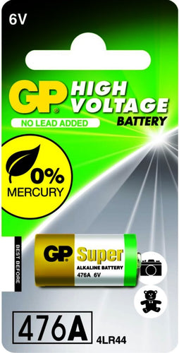 GP Battery 6 Volt GP476/4LR44  Alkaline Battery - Watchbatteries