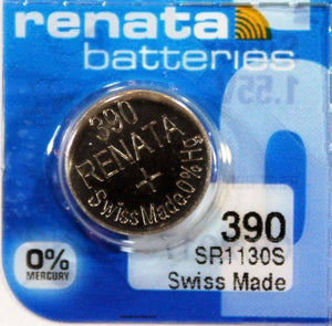 Renata 390 80mAh 1.55V Silver Oxide Coin Cell Battery - Watchbatteries