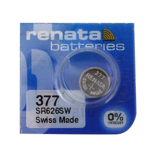 Renata 377 28mAh 1.55V Silver Oxide Coin Cell Battery - Watchbatteries