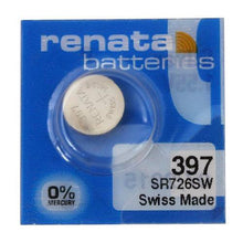Renata 397 32mAh 1.55V Silver Oxide Coin Cell Battery - Watchbatteries