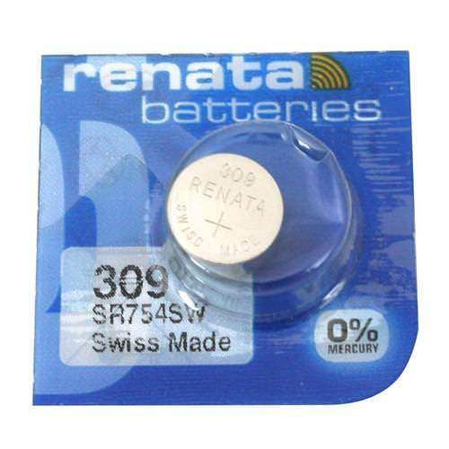 Renata 309 80mAh 1.55V Silver Oxide Coin Cell Battery - Watchbatteries
