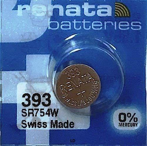 Renata 393 80mAh 1.55V Silver Oxide Coin Cell Battery - Watchbatteries
