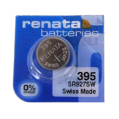 Renata 395 55mAh 1.55V Silver Oxide Coin Cell Battery - Watchbatteries