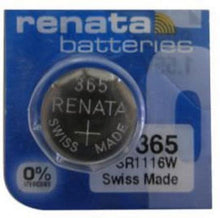 Renata 365 47mAh 1.55V Silver Oxide Coin Cell Battery - Watchbatteries