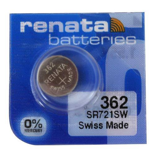 Renata 362 23mAh 1.55V Silver Oxide Coin Cell Battery - Watchbatteries