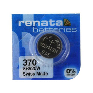 Renata 370 40mAh 1.55V Silver Oxide Coin Cell Battery - Watchbatteries