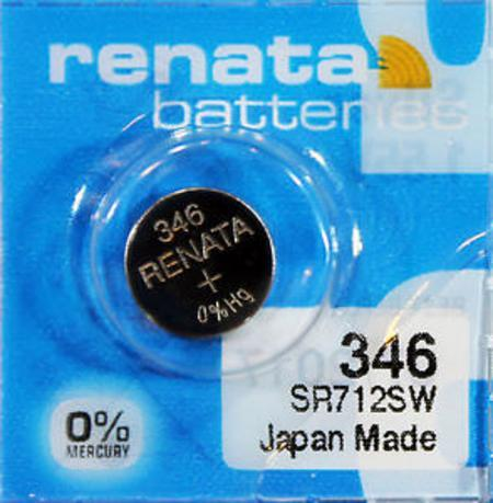 Renata 346 10mAh 1.55V Silver Oxide Coin Cell Battery - Watchbatteries