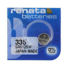 Renata 335 6mAh 1.55V Silver Oxide Coin Cell Battery - Watchbatteries