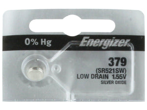 Energizer 379 Silver Oxide Coin Cell Batteries 1.55Volt SR521SW - Watchbatteries