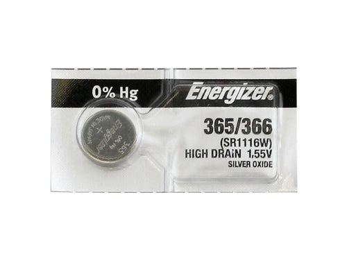 Energizer 365-366TZ Silver Oxide Coin Cell Batteries 1.55V - Watchbatteries
