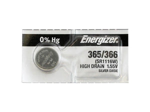 Energizer 365-366TZ Silver Oxide Coin Cell Batteries 1.55V