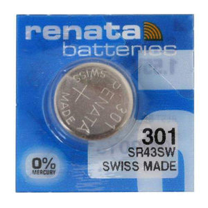 Renata 301 130mAh 1.55V Silver Oxide Coin Cell Battery - Watchbatteries