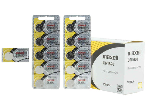 Maxell CR1620 68mAh 3V Lithium (LiMNO2) Coin Cell Battery - Watchbatteries