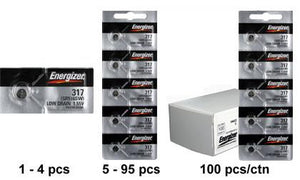 Energizer 317TZ Silver Oxide Coin Cell Batteries 1.55V - Watchbatteries