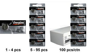 Energizer 357-303TZ Silver Oxide Coin Cell Batteries 1.55V - Watchbatteries