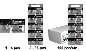 Energizer 341TZ Silver Oxide Coin Cell Batteries 1.55V - Watchbatteries