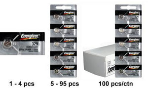 Energizer 329 Silver Oxide Coin Cell Batteries 1.55Volts - Watchbatteries