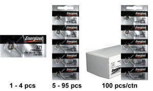 Energizer 321 Silver Oxide Coin Cell Batteries 1.55Volts SR616SW - Watchbatteries