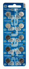Renata 344 105mAh 1.55V Silver Oxide Coin Cell Battery - Watchbatteries