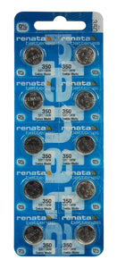 Renata 350 105mAh 1.55V Silver Oxide Coin Cell Battery - Watchbatteries