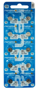 Renata 361 24mAh 1.55V Silver Oxide Coin Cell Battery - Watchbatteries