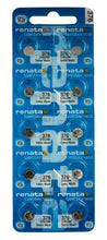 Renata 376 27mAh 1.55V Silver Oxide Coin Cell Battery - Watchbatteries