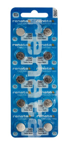 Renata 380 82mAh 1.55V Silver Oxide Coin Cell Battery - Watchbatteries