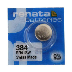 Renata 384 45mAh 1.55V Silver Oxide Coin Cell Battery - Watchbatteries
