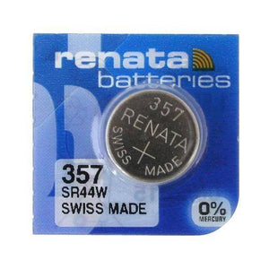Renata 357 (76A) 160mAh 1.55V Silver Oxide Coin Cell Battery - Watchbatteries