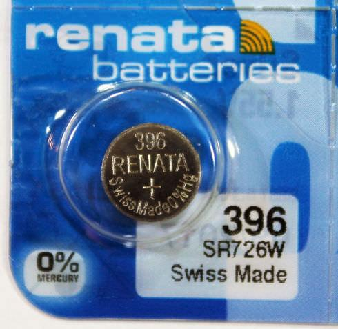 Renata 396 32mAh 1.55V Silver Oxide Coin Cell Battery - Watchbatteries