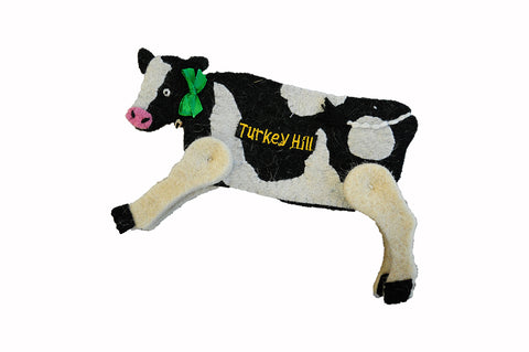 Wool Turkey Hill Cow Ornament