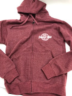 Turkey Hill burgundy Full Zip Hoodie