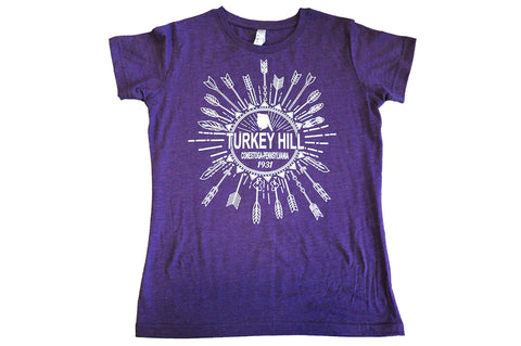 Adult Turkey Hill Purple Arrowhead Tee