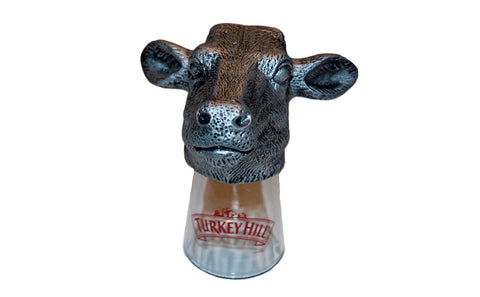 Turkey Hill Metal Cow Head Shot Glass