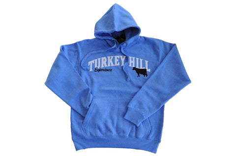 Adult Turkey Hill Blue Sweatshirt with Cow