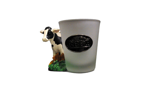 Turkey Hill Ceramic Cow Shot Glass