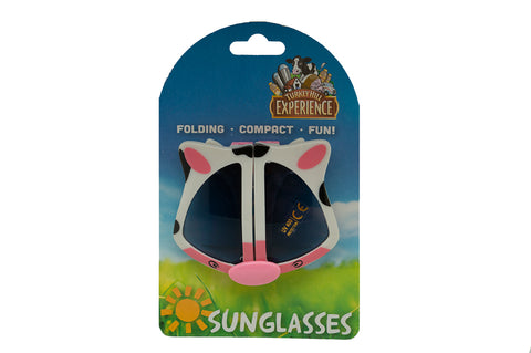 Turkey Hill Cow face folding sunglasses