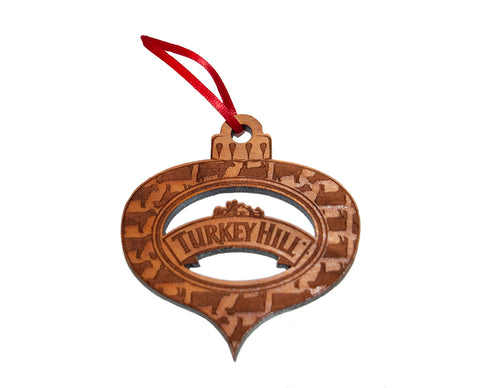 Turkey Hill Wooden Globe Ornament