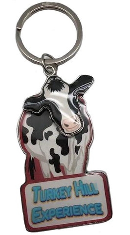Turkey Hill Experience Moving Cow Key Chain