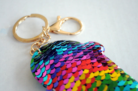 Turkey Hill Sequin Keychain