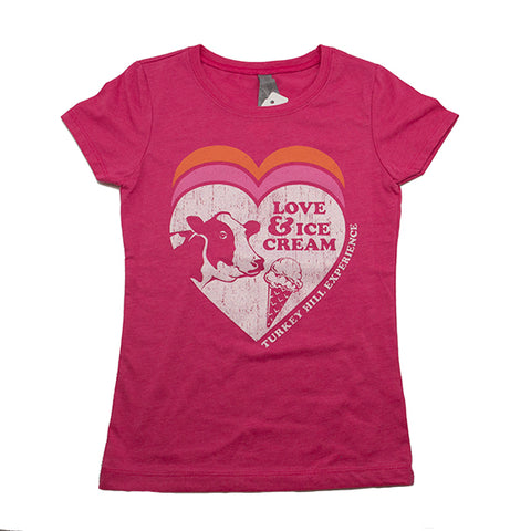 Sparkle Girl Love & Ice Cream Shirt