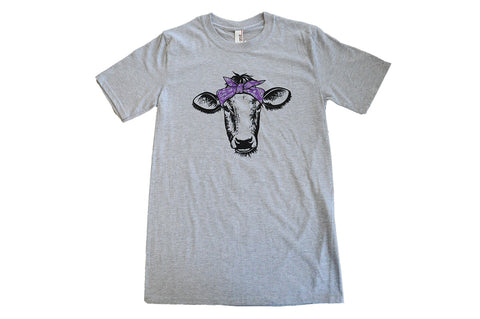 Turkey Hill Cow Bandana Shirt Adult