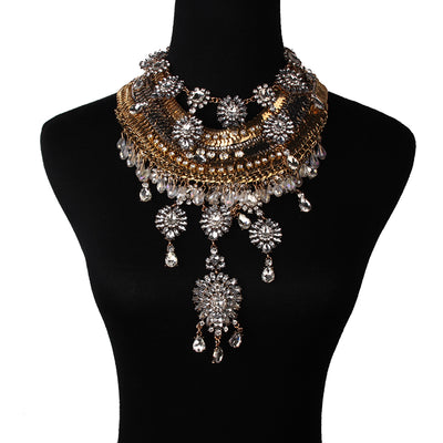 Boho Chic Chain Collar Body Necklace