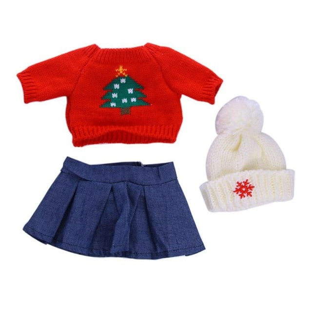 Cute Sweaters Clothes Outfits Dress Skirt For 18 inch Our Generation  American Girl Doll baby born doll accessories USPS 2018